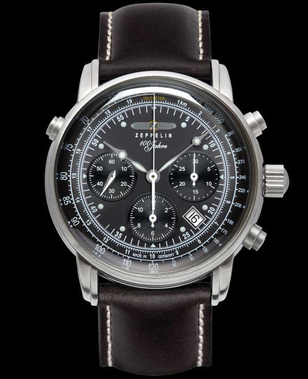 """ZEPPELIN Chronograph Chronometer """"100 Jahre Zeppelin"""", Sternwarte Glashuette, Ref. 7620"""