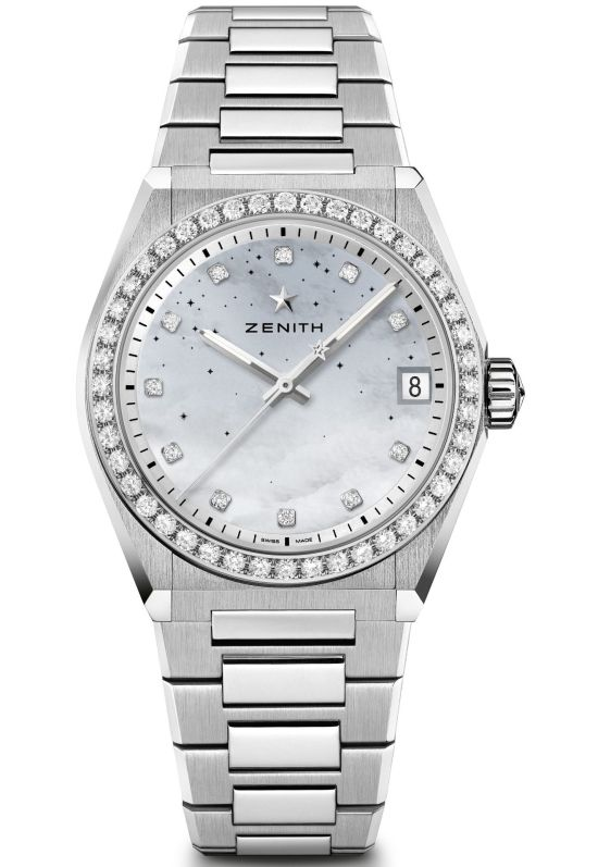 Zenith DEFY Midnight model 3 gradient mother of pearl dial diamond set bezel