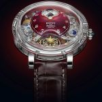 "BOVET 1822 Récital 26 Brainstorm® Chapter One Limited Edition, Sapphire ""Writing Slope"" Case, Flying Tourbillon, Three-Dimensional Moon Phase, Big Date, 10 Days' Power Reserve, Red Quartz Dial"