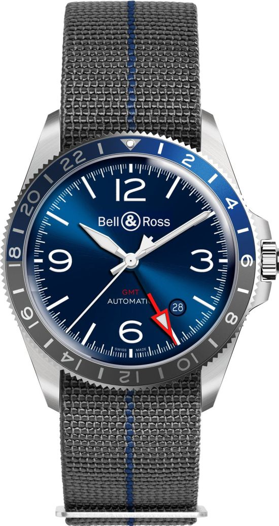 Bell & Ross - BR V2-93 GMT Blue with nato strap