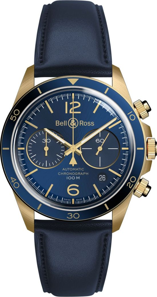 Bell & Ross - BR V2-94 Aéronavale Bronze watch with nato strap