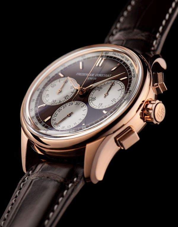 Frederique Constant Flyback Chronograph Manufacture red gold plated watch