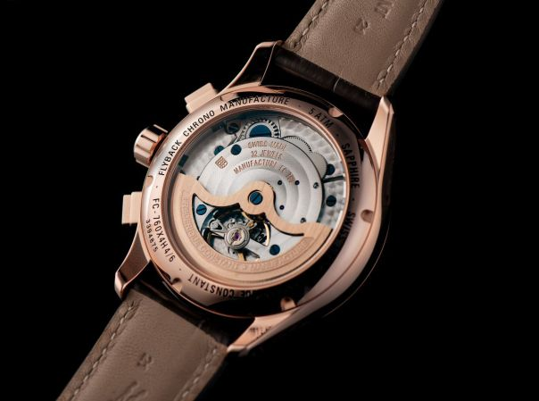 caseback view of Frederique Constant Flyback Chronograph Manufacture