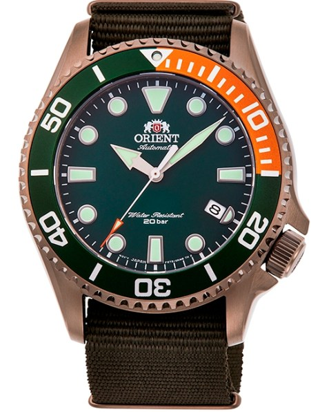 ORIENT Sports Diver New Models Reference RA-AC0K04E Green Dial Bronze color case