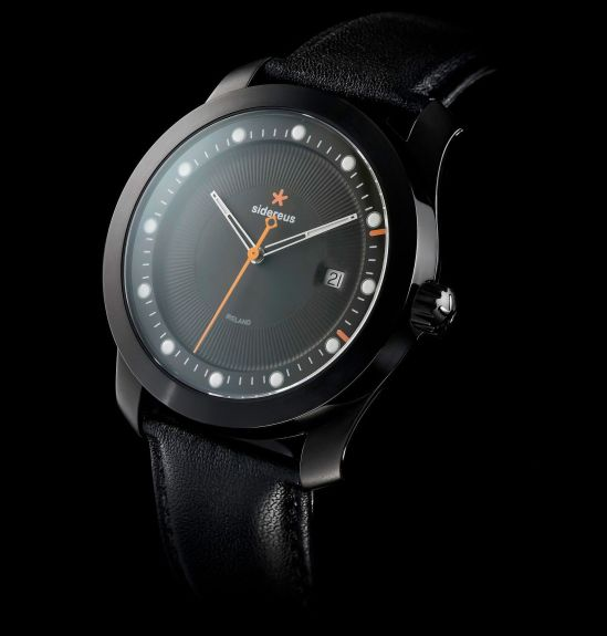 Sidereus Dowth Watch with Ion-plated Midnight Black Finish
