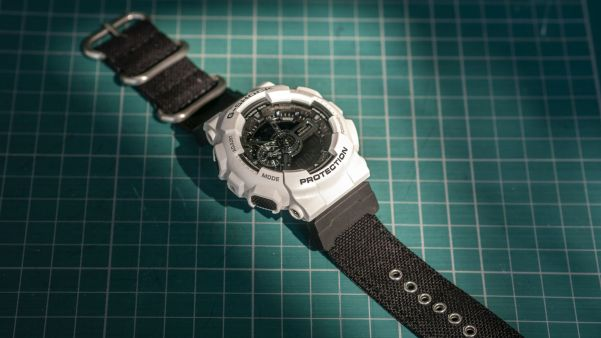 Gshock watch with Vario cordura black strap