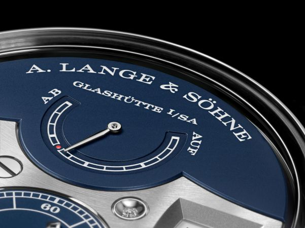 A. Lange & Söhne Zeitwerk Minute Repeater New Model in White Gold with a Deep-Blue Dial
