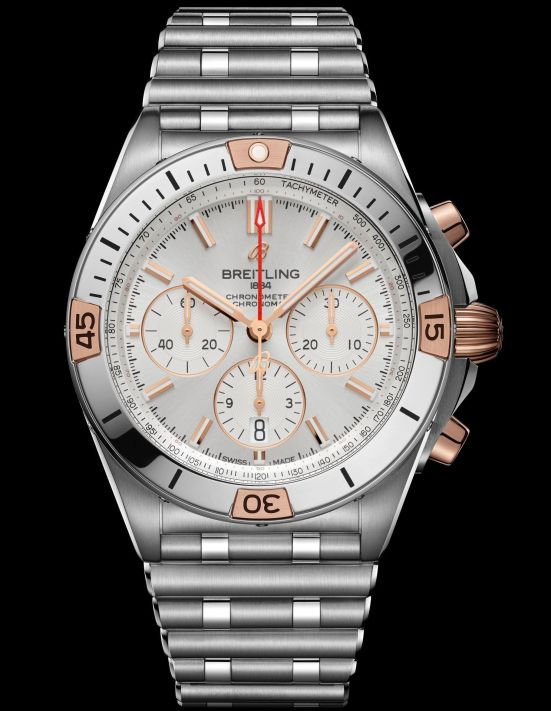 Breitling Chronomat Collection_chronomat-b01-42-with-a-silver-dial-an-18-k-red-gold-crown-and-pushers-and-a-bezel-with-18-k-red-gold-rider-tabs_ref-ib0134101g1a1