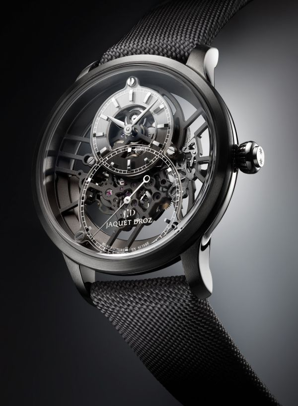 Jaquet Droz Grande Seconde Skelet-One New Models in Plasma Ceramic (Reference J003525542)