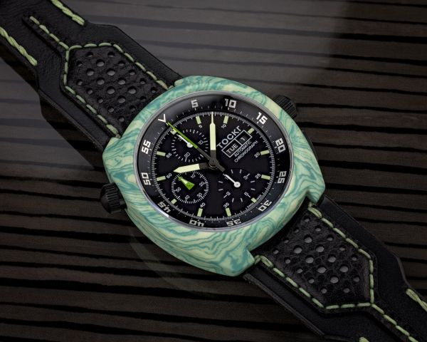 Tockr Air-Defender Lume: Hydro Dipped Chronographs with Luminescent Cases and Straps