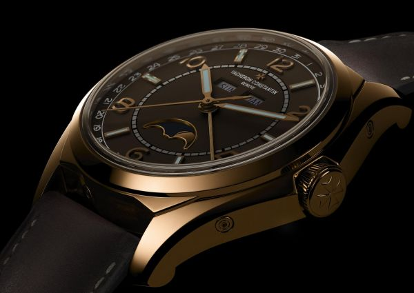 Vacheron Constantin Fiftysix® Complete Calendar with Sepia Brown-Toned Dial and Matching Calfskin Strap