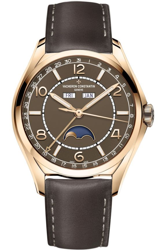 Vacheron Constantin Fiftysix® Complete Calendar with Sepia Brown-Toned Dial and Matching Calfskin Strap 1