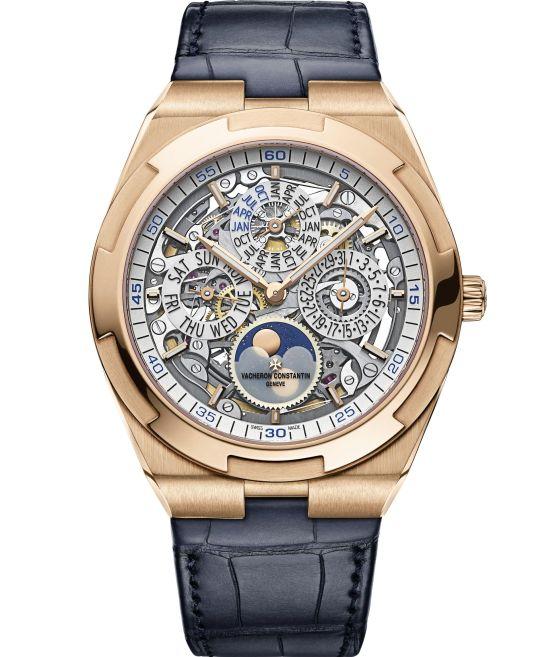 Vacheron Constantin Overseas Perpetual Calendar Ultra-Thin Skeleton watch in 18K 5N pink gold