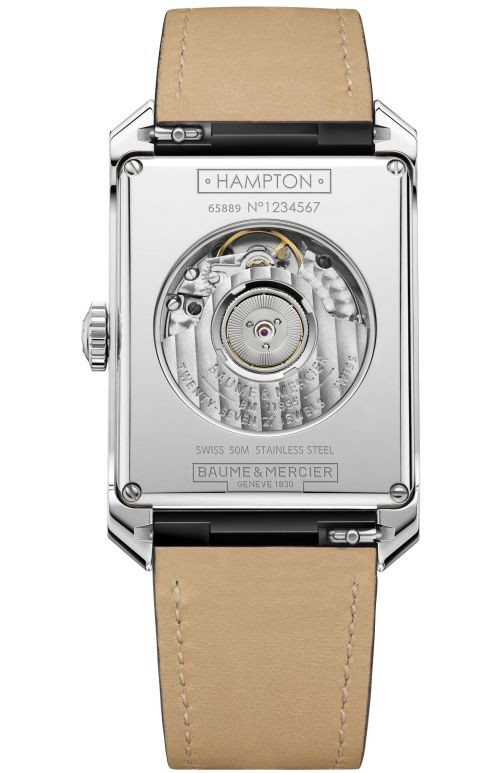 Baume & Mercier Hampton Collection New automatic watch caseback view