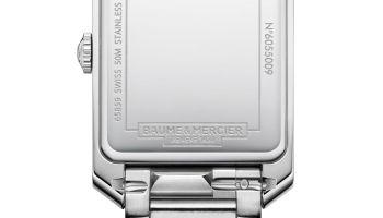 Baume & Mercier Hampton Collection New quartz watch caseback view