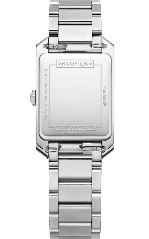 Baume & Mercier Hampton Collection New quartz watch caseback view