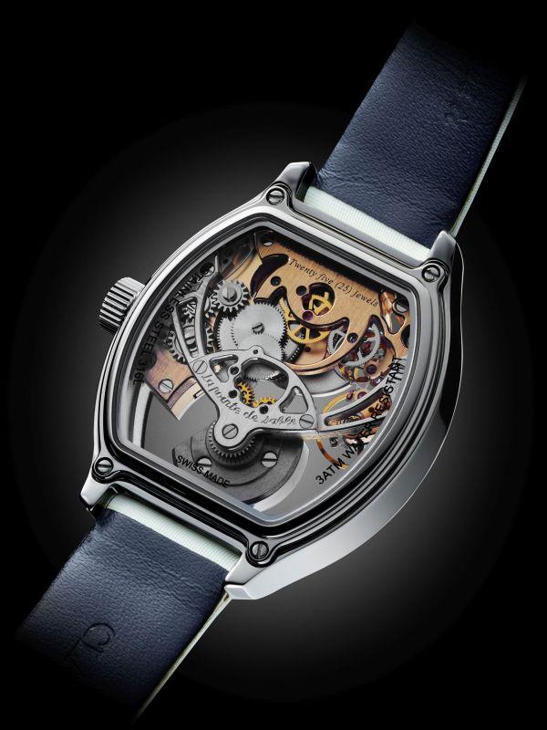 CLAUDE MEYLAN TORTUE LADY LA POINTE DE SABLE ladies mechanical automatic watch caseback view