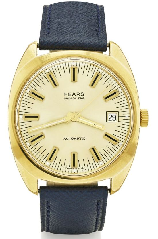 FEARS vintage automatic watch with rolled gold cushion case, circa 1970
