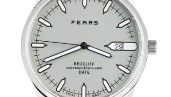 Fears Redcliff Date - Pebble Grey dial on a Tan Brown goat's skin strap