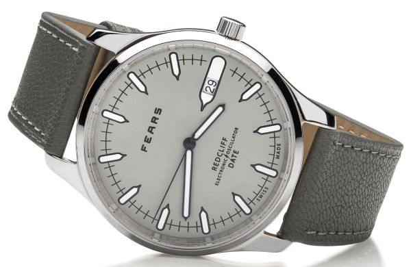 Fears Redcliff Date - _Pebble_ Grey dial on Pebble Grey strap - on side