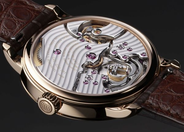 Krayon Anywhere red gold model caseback view