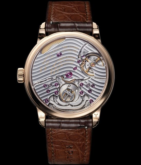 Krayon Anywhere watch by Rémi Maillat rose gold model caseback view