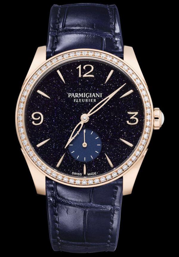 Parmigiani Fleurier Tonda New Edition - Tonda Métropolitaine aventurine rose gold case, diamond set bezel, small seconds