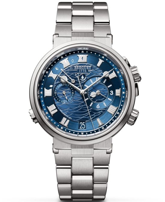 Breguet Marine Alarme Musicale 5547 White Gold Version with Bracelet, Ref. 5547BB/Y2/BZ0