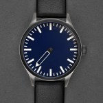 Defakto Eins Inkognito Nightblue single hand automatic watch titanium case night blue dial