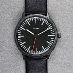 Defakto Transit PVD automatic three hand watch black pvd sandblasted case