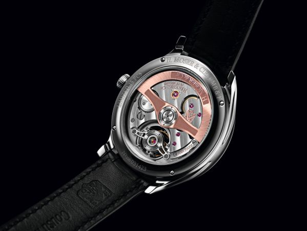 Endeavour Cylindrical Tourbillon H. Moser X MB&F Limited edition caseback view