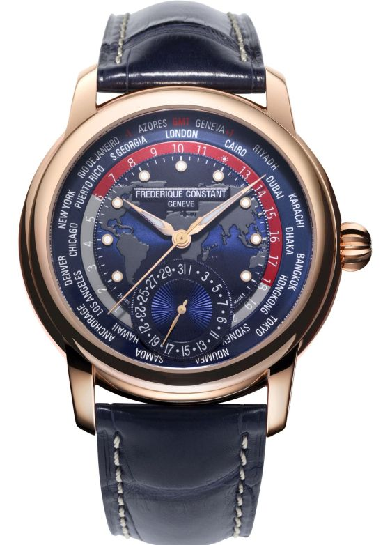 Frederique Constant Classic Worldtimer Manufacture Rose Gold Limited Edition