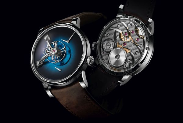 LM101 H. Moser X MB&F Limited Edition with Funky Blue fumé dial