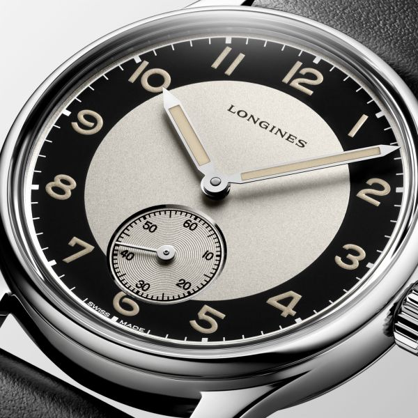 Longines Heritage Class Tuxedo Three Hands Automatic dial