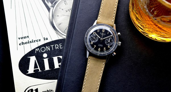 A vintage Airain Type 20 Flyback Chronograph