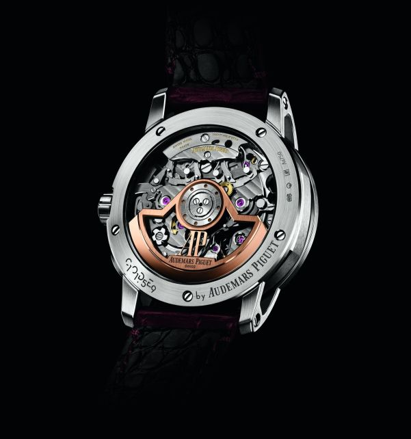 Caseback view of Code 11.59 by Audemars Piguet Self-winding Chronograph 18k white  gold case models