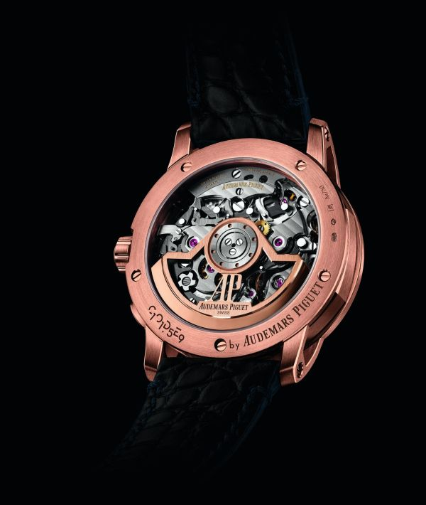 Code 11.59 by Audemars Piguet Self-winding Chronograph 18-carat pink gold case Smoked blue lacquered dial with sunburst pattern