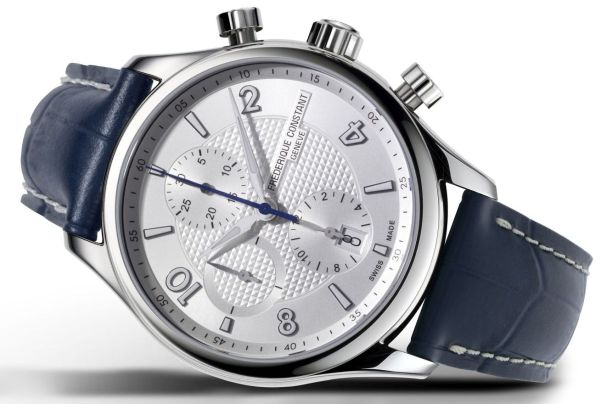 Frederique Constant Runabout RHS Chronograph Automatic Limited Edition with silver colored dial