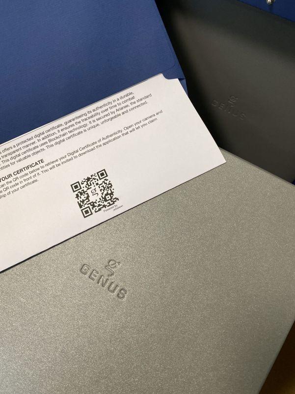 GENUS GNS1.2 TD (Damascene Titanium) digital certificate