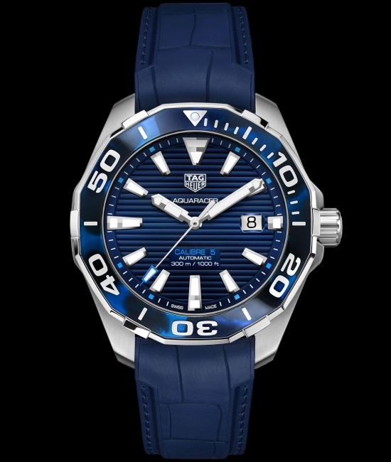 Tag Heuer Aquaracer 43 mm Tortoise Shell Effect Special Edition blue version