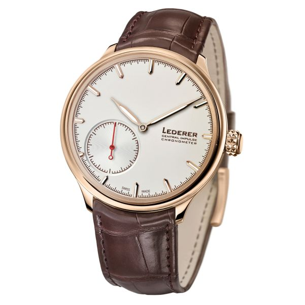 Bernhard Lederer Central Impulse Chronometer rose gold watch