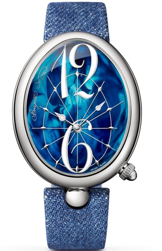 Breguet Reine de Naples 8967 (With Stainless Steel Case and Blue-lacquered Dial)