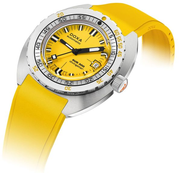 DOXA SUB 300 COSC Yellow Divingstar Ref. 821.10.361.31 (yellow dial, yellow rubber strap)