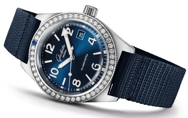 Glashütte Original SeaQ line New Models 2020 Galvanic blue dial and diamond set bezel
