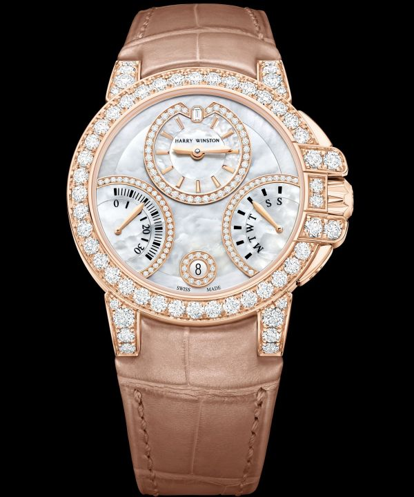 Harry Winston Ocean Biretrograde Automatic 36mm new model 2020 rose gold mother of pearl dial