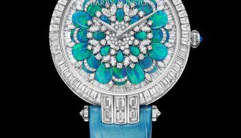 Harry Winston Premier Hypnotic Chrysanthemum Automatic 36mm, Version with turquoise tones: PRNAHM36WW029