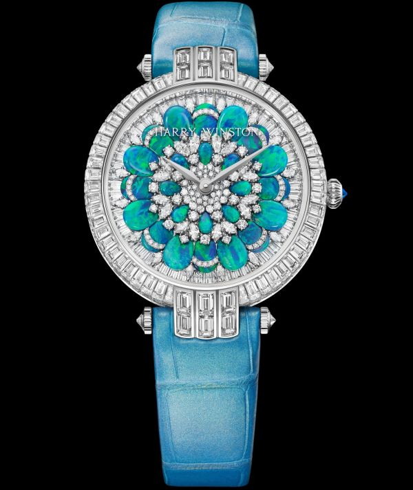 Harry Winston Premier Hypnotic Chrysanthemum Automatic 36mm, Version with turquoise tones: PRNAHM36WW029