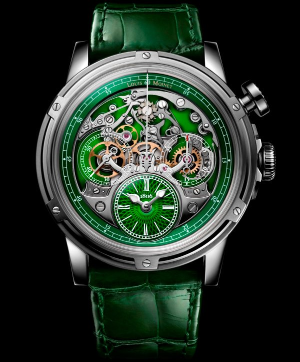 Louis Moinet Memoris Superlight Green, Ref. LM-79.20.31/ Limited edition of 28 pieces