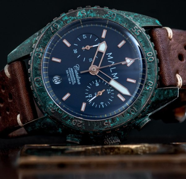 Catalina Blue Bronze Wreck Chronograph