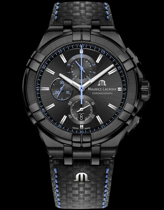 Maurice Lacroix AIKON Chronograph Limited Edition (With Black PVD Case and Black Dial)